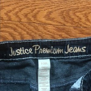 Justice Bottoms - Justice girls jeans with sparkles